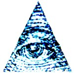 Eye atop a pyramid - a mystical sign