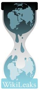 Wikileaks globe-hourglass logo