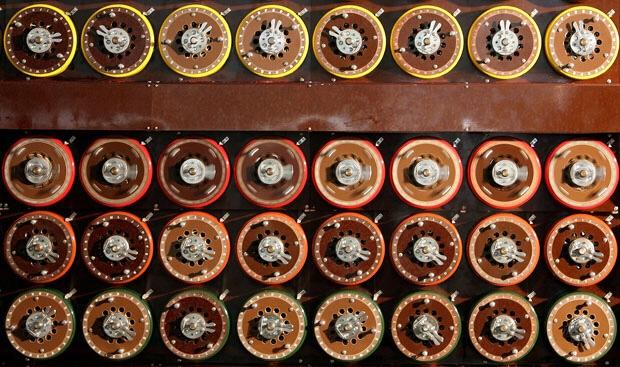Bombe machine used to crack Enigma ciphertext