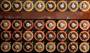 Bombe machine used to crack Enigma ciphertext