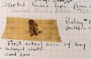 bug crashes computer, Dahlgren, VA, 1947