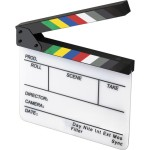 Video clapperboard slate, courtesy B&H Photo Video