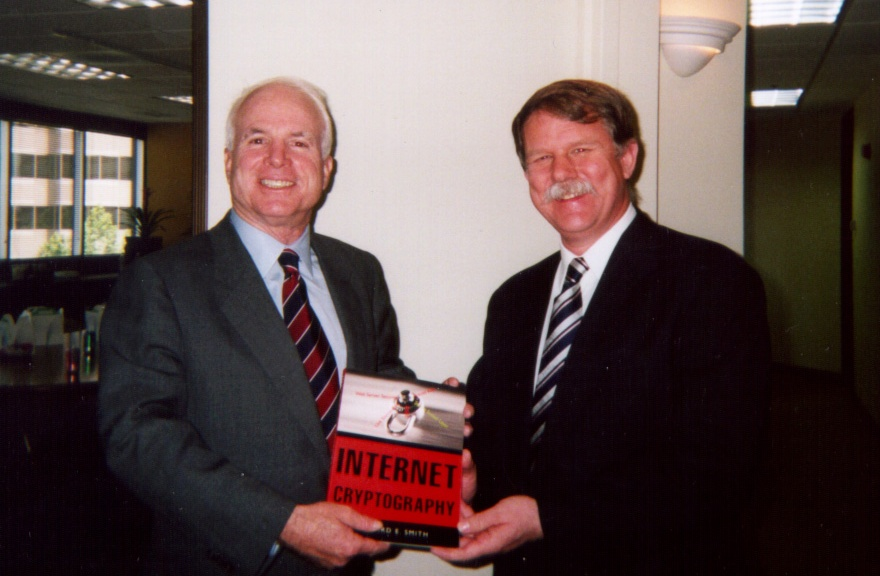 Sen. John McCain and Rick Smith, 1999