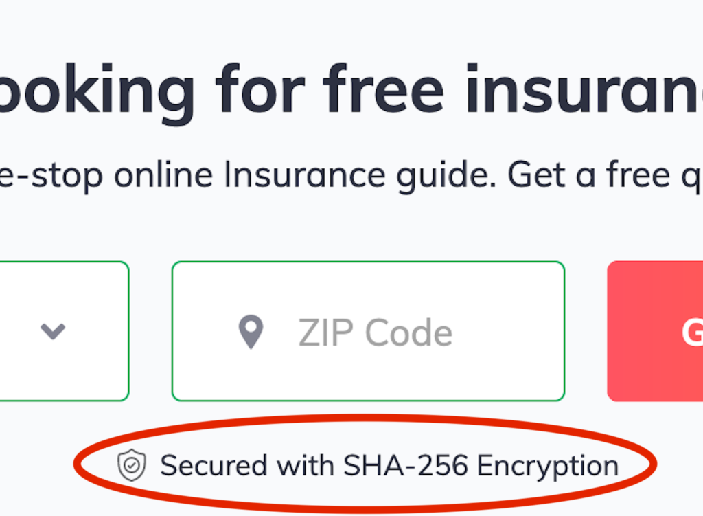 Ad with SHA 256 'encryption'