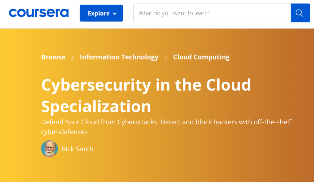 narrow Splash Screen for the Cloud Security Specialization